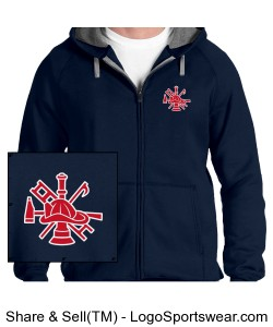 Full-Zip Hoodie no.10 ($72.25 cdn - with Red Logo) Design Zoom